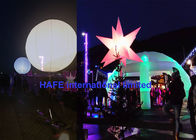 Dual Color White Led Light Up Balloons With DMX For Events Decoration