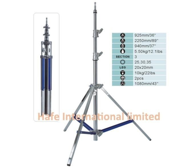 Adjustable Tripod Light Stand Heavy Duty , Stainless Steel Telescopic Led Work Light Tripod