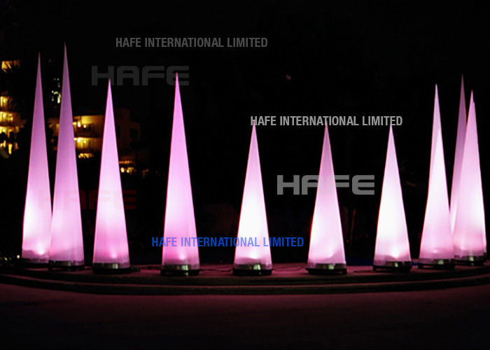 High Brightness Cone Inflatable Event Decoration Lighting Integrated High Power 200 W LED