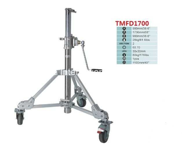 Heavy Duty Steel Portable Tripod Light Stand With Rocker Arm And Photographic Equipment