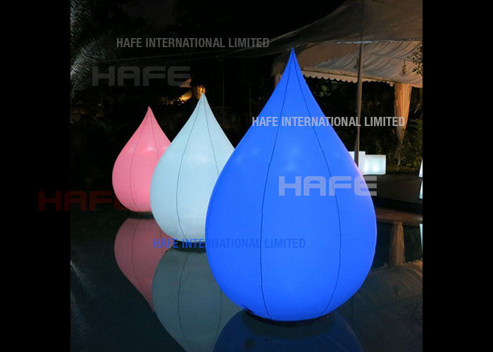 Aero Lotus Inflatable Lighting Decoration LED 100W 50CM Base For Social Corporate Event