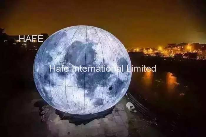 3m Huge Helium Balloon for National Day Holiday Decorations , Parade Balloon Mid autumn moon