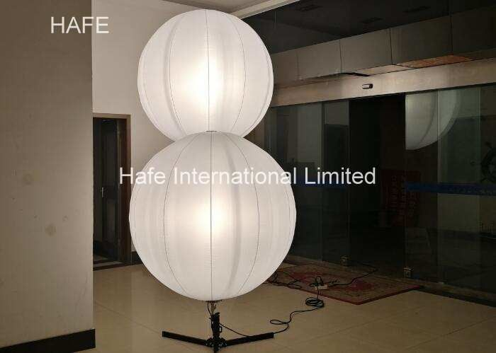 Outdoor Advertising Inflatables Halogen Lighting Standing Tripus Balloon With Adjustable Pole