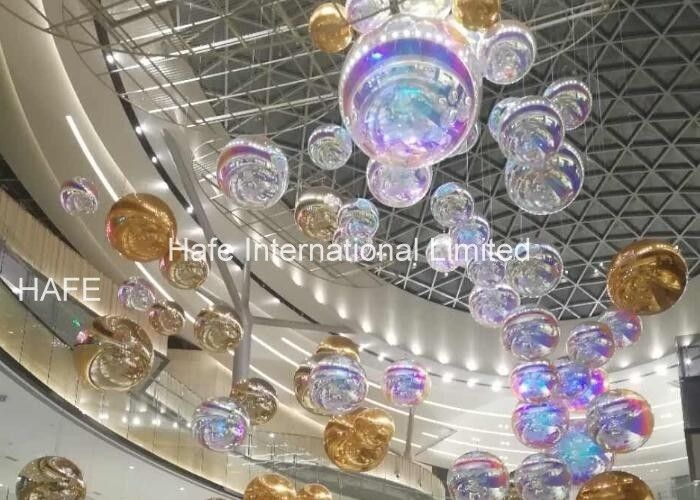 2.5m Diameter Inflatable Mirror Balloon / Events Decoration Silver Reflective Ball